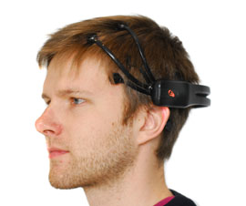 Adam Gerber wearing Emotiv EEG Headset